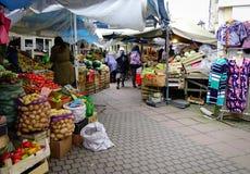 Сельский рынок в Санкт-Петербурге, России Стоковые Изображения
