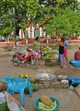 Сельский рынок еды, Mompos, Колумбия Стоковое Изображение RF