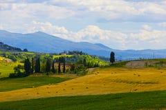 Сельский тосканский ландшафт Стоковые Изображения RF