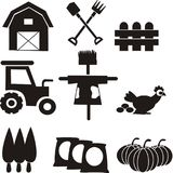 Сельское хозяйство оборудует вектор значка стоковое изображение
