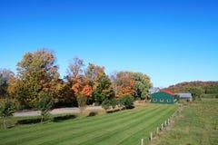 Сельскохозяйственное угодье в осени Стоковое Фото