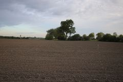 Сельскохозяйственные угодья готовы снова стоковая фотография rf