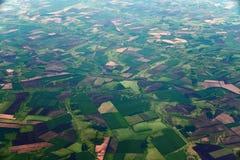 Сельскохозяйственные угодья от большей высоты в территории Краснодар России стоковая фотография