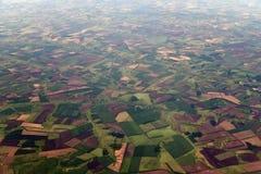 Сельскохозяйственные угодья от большей высоты в территории Краснодар России стоковое фото rf