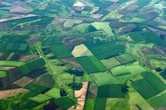Сельскохозяйственные угодья от большей высоты в территории Краснодар России стоковые изображения