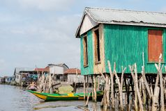 Сельчанин африканца образа жизни Nokoué озера Бенин стоковые фотографии rf