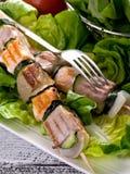 семга skewers туна Стоковое Изображение