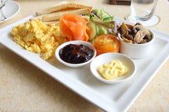Семги большого завтрака установленные копченые Стоковое Изображение