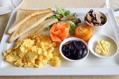 Семги большого завтрака установленные копченые Стоковые Изображения