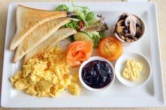 Семги большого завтрака установленные копченые Стоковая Фотография RF