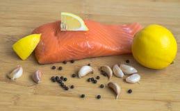Семги и лимон Стоковое Изображение RF
