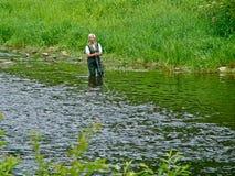 семги рыболова Стоковые Фотографии RF