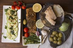 Семги с овощами стоковое фото rf