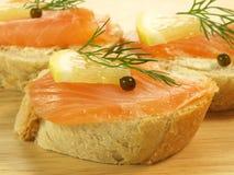 семги хлеба Стоковые Фото