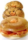 семги bagels курили Стоковое Изображение RF