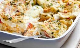 семги lasagne Стоковое фото RF