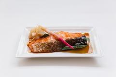 Семги Teriyaki: Зажаренные Marinated семги с соусом Teriyaki Стоковые Изображения RF