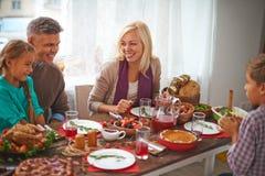 Семейное торжество стоковое изображение
