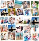 Семейные фото внутри помещения и outdoors Стоковое Изображение RF