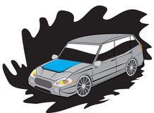 Семейный автомобиль иллюстрация штока