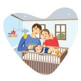 Семейный номер младенца Стоковое Изображение RF