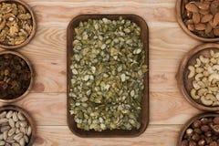Семена и гайки тыквы Стоковое фото RF