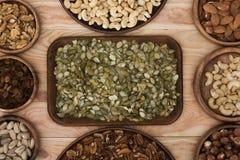 Семена и гайки тыквы Стоковые Фотографии RF