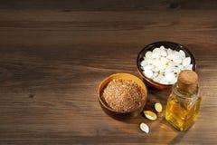 Семена льна и тыквы стоковое изображение