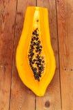 Семена папапайи закрывают стоковые фото