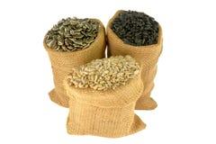 Семена подсолнуха с и без раковины Стоковые Фото