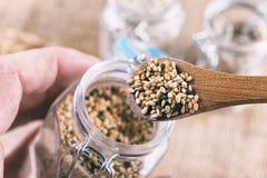 Семена сезама Стоковые Фотографии RF