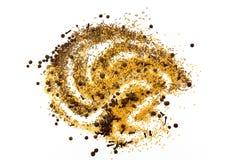 Семена, специи, зерно, бодрствование поднимающее вверх и смешанное друг с другом Стоковое фото RF