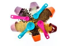 Семена, специи, зерно, бодрствование поднимающее вверх и смешанное друг с другом Стоковые Фото