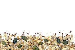 семена хлопьев предпосылки Стоковые Фотографии RF
