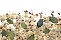 семена хлопьев предпосылки Стоковое фото RF