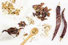 Семена чилей и перца стручка сухие стоковое фото