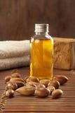 Семена argan с светом и мылом Стоковое Изображение