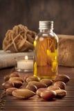 Семена argan с светом и мылом Стоковые Изображения