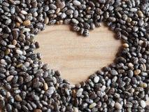 Семена Chia - близкое поднимающее вверх Стоковое Изображение