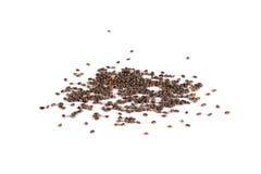 Семена Chia изолированные на белизне Стоковые Фото