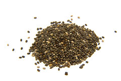 Семена Chia на белой предпосылке стоковое фото rf