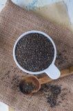 Семена Chia сверху Стоковые Фото