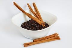 Семена Chia с циннамоном стоковые изображения