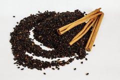 Семена Chia с циннамоном стоковое изображение