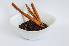 Семена Chia с циннамоном Стоковое Изображение RF