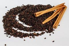 Семена Chia с циннамоном Стоковая Фотография