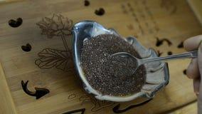 Семена Chia сток-видео