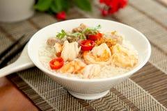 семените суп риса креветки свинины стоковая фотография rf