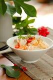 семените суп риса креветки свинины стоковые фото