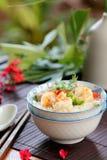 семените суп риса креветки свинины стоковое изображение